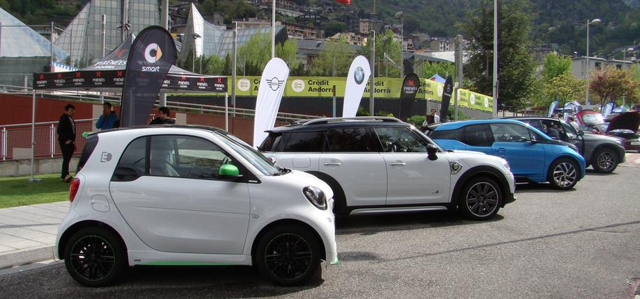 L'Smart, el Mini Countryman, el i3 i finalment el GLC 350e de Pyrenees a La Jornada de Mobilitat Elèctrica