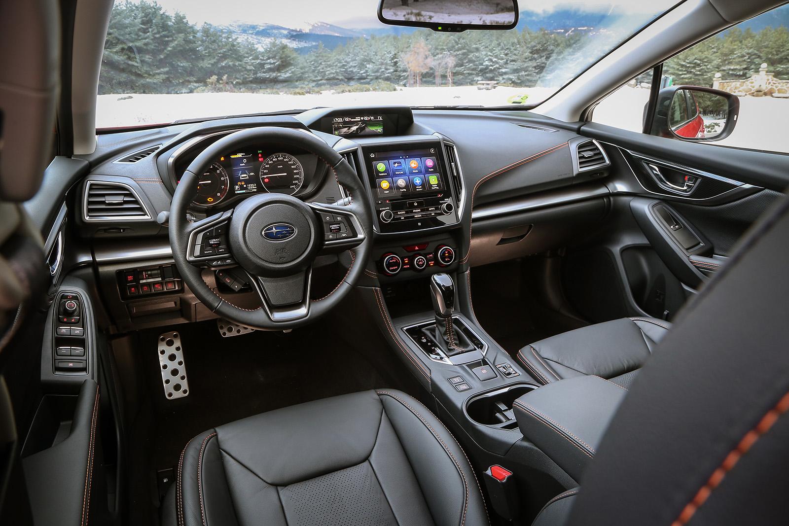 Vista interior davantera De l'XV de Subaru