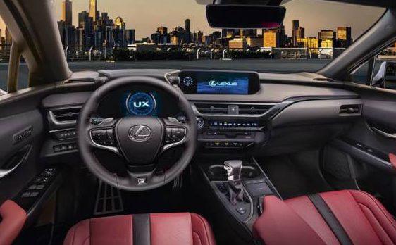 Imatge davantera interior del UX de Lexus